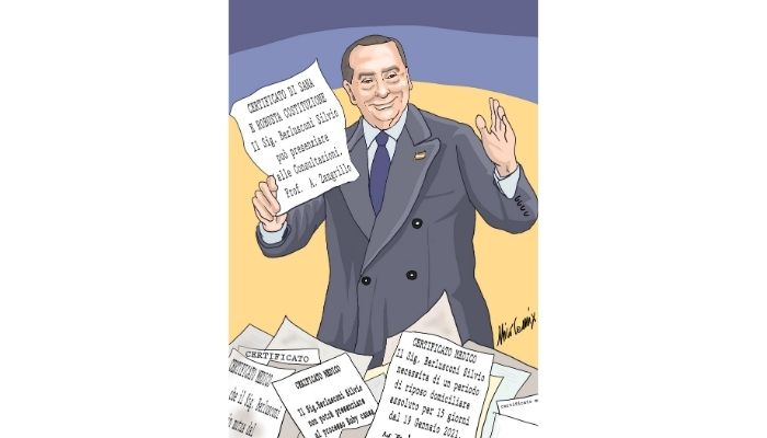 Certificato di sana e robusta costituzione. Ovvero, lo strano caso della salute di Berlusconi vicino alle date dei processi. Nicocomix