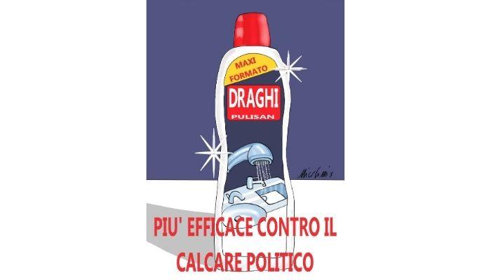 Draghi . Sarà in grado di guidare il paese ed essere efficace contro il calcare politico? Nicocomix