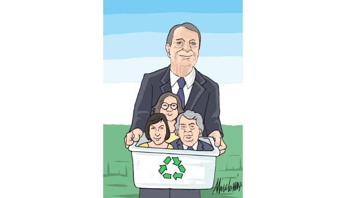 Governo del riciclo . Draghi e i tre ministri di Forza Italia. Nicocomix