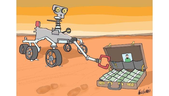 Marte , trovate tracce di vita leghista sul pianeta. Nicocomix
