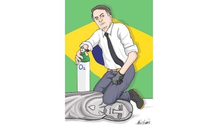 #O2Brasil . Dalla confidenza di un amico vignettista brasiliano nasce l'#O2Brasil 3 #helpbrasil . Nicocomix
