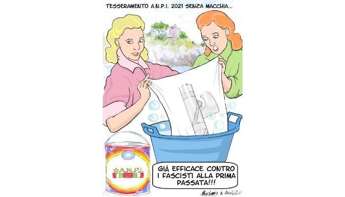 Tesseramento ANPI . Alex Di Viesti & Nicocomix per la campagna tesseramento di Genova Nervi.