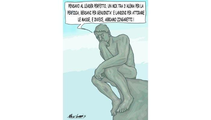 il pensatore di Rodin. Nicocomix