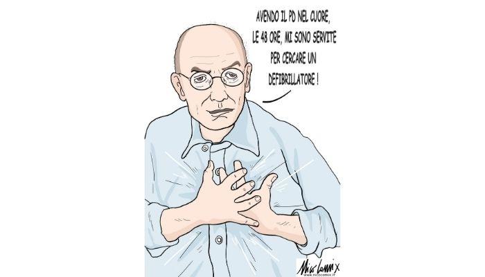 Enrico Letta e il PD nel cuore. Nicocomix