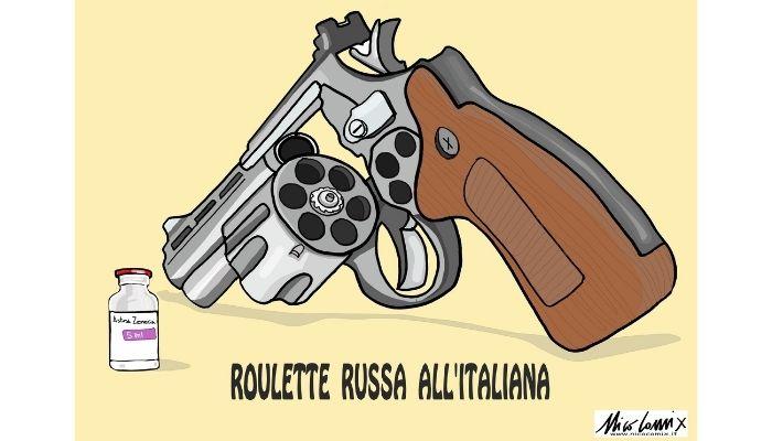 roulette russa all'italiana . AstaZeneca bloccata la somministrazione. Nicocomix