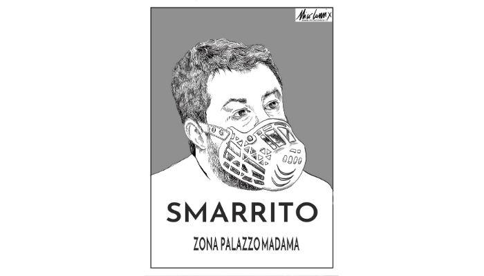 smarrito. Matteo Salvini . Nicocomix