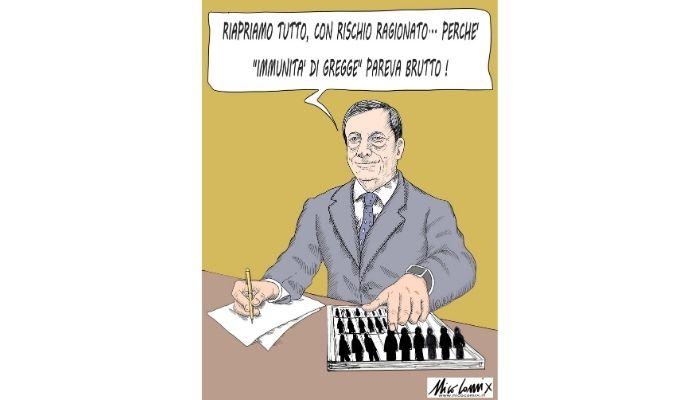 rischio ragionato. Le riaperture di Draghi. Nicocomix