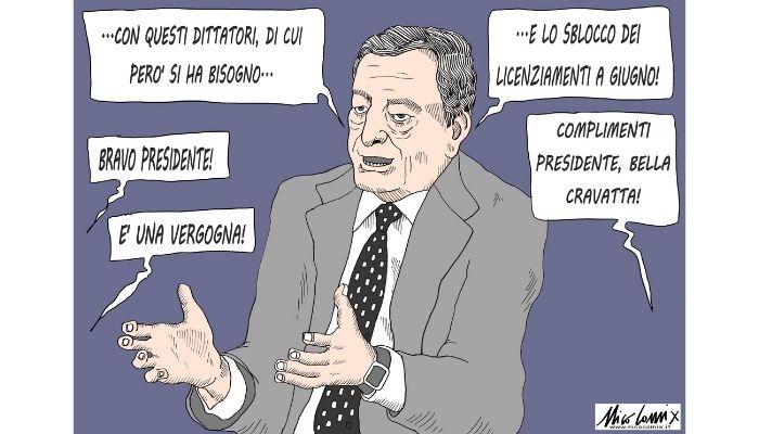 sblocco licenziamenti. Draghi annuncia lo sblocco licenziamenti e la notizia passa in secondo piano. Nicocomix