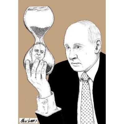 the hourglass of death, Putin