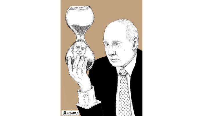 the hourglass of death, Putin. Navalnyj, sta morendo . Nicocomix