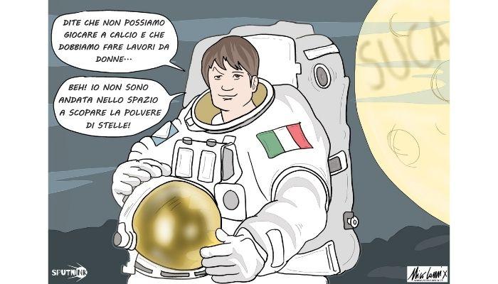 polvere di stelle. L'astronauta Samantha Cristoforetti sarà la prima donna europea al comando della Stazione spaziale internazionale (ISS) . La risposta più bella a chi come Tajani, Pillon o Pecchini pensano che il posto delle donne siano a casa ad accudire i figli ... Nicocomix