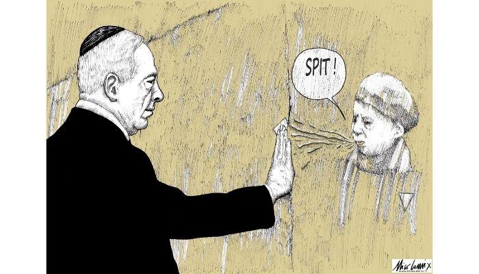 uno sputo dal passato. Il passato si ribella alla guerra d'Israele. Nicocomix