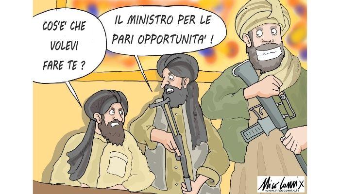 pari opportunità. Afghanistan, talebani e rassicurazioni. Nicocomix