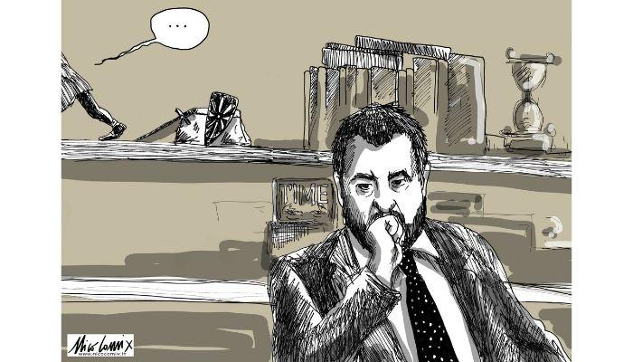 SOLITUDINE E ABBANDONO. Il declino di Salvini. Nicocomix