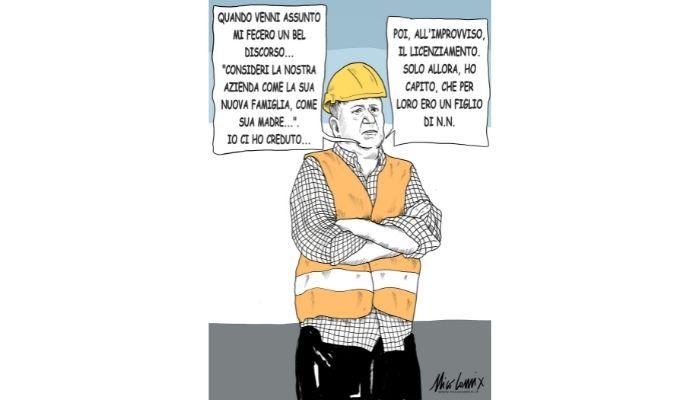 la grande famiglia. Licenziamenti e lavoratori. Nicocomix