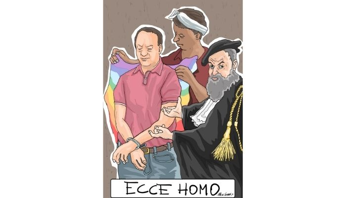 ECCE HOMO LUCANO. Mimmo lucano condannato. Nicocomix